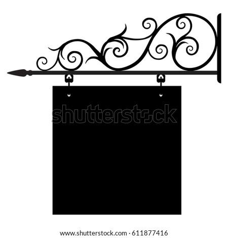 Vintage sign blank