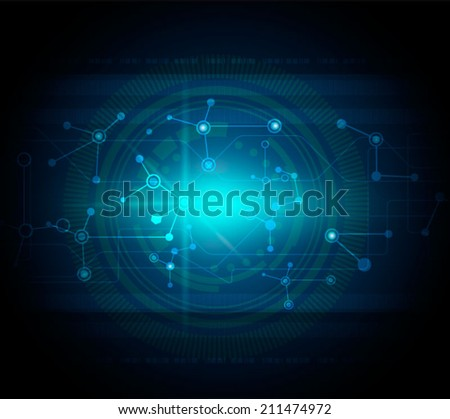 Vector illustration blue abstract technology hi-tech background