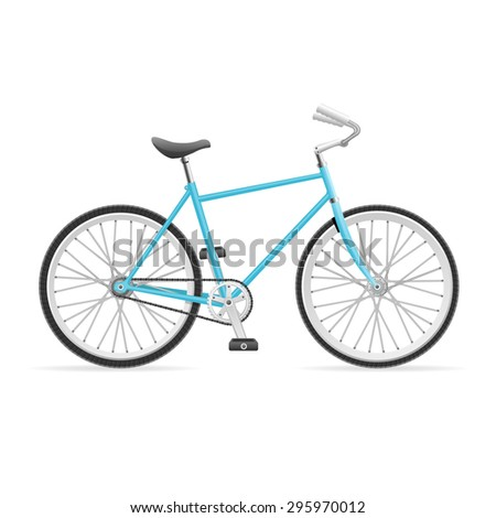 Vector illustration Blue Road Bike isolated on a white background.