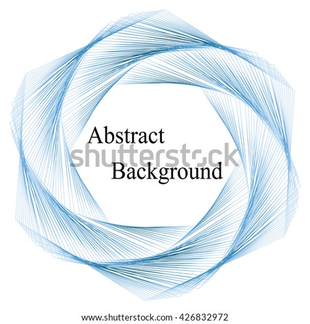 Vector Illustration.Blue Template for Visiting Cards, Labels, Fliers, Banners, Badges, Posters, Stickers and Advertising Actions. Stripes Twisted in Vortex. Abstract Background - stock vector