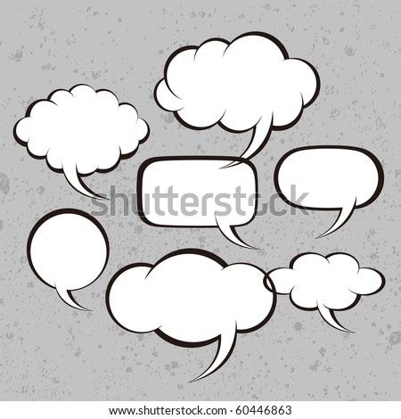 Vector illustration. Bubbles for speech - stock vector
