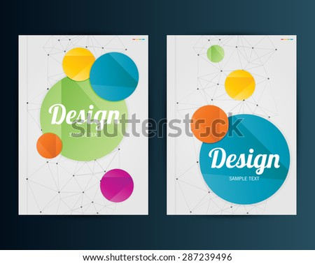 Vector Illustration. Business Template for Flyer, Banner, Placard, Poster, Brochure Design. - stock vector