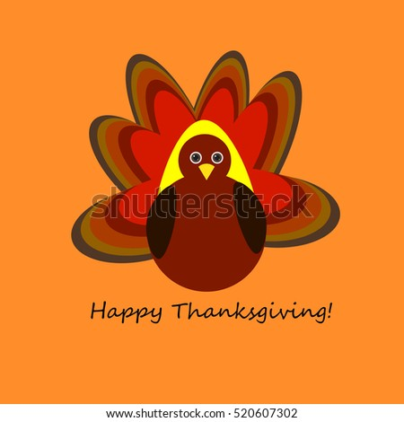 Vector Illustration cartoon turkey. Happy Thanksgiving day concept. Background pattern