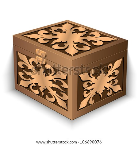 vector illustration, chest ornaments on a white background - stock vector