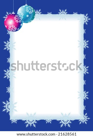 "vector illustration ""christmas letter"" - stock vector"
