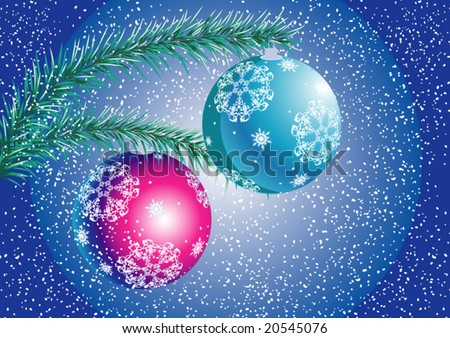 "vector illustration ""christmas snow"""