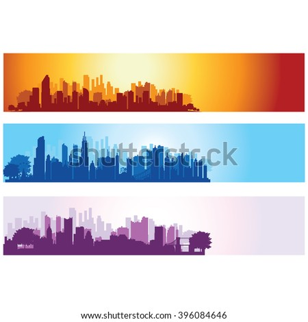 Vector Illustration : City Banner