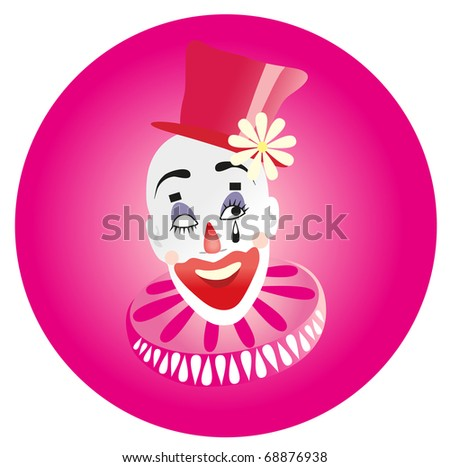 Vector illustration. Clown. - stock vector