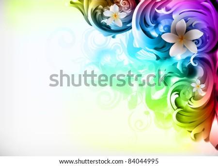 "vector illustration - colorful ""corner"" design - stock vector"