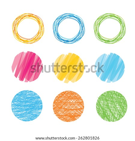 Vector illustration colorful sphere, round set  isolated on white background.