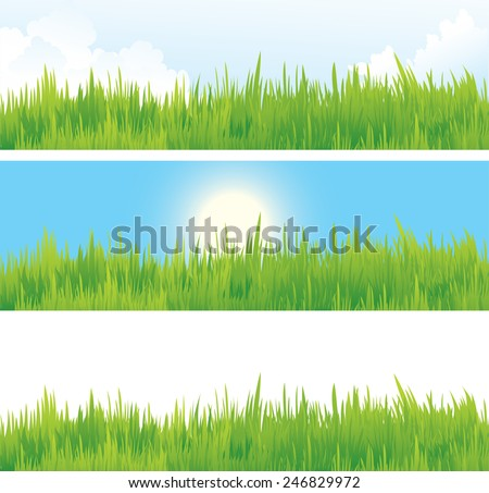 Vector illustration contains images of landscape - stock vector