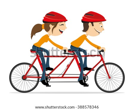 Vector illustration. Cycling. - stock vector