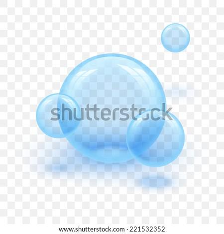 Vector illustration 3d glossy glass sphere background. - stock vector