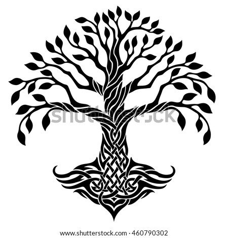 vector illustration decorative celtic tree life stock vector 2018 rh shutterstock com tree of life vector free tree of life vector download