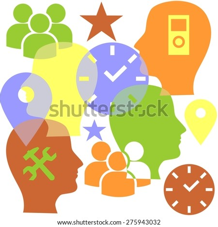 vector illustration dedicated to the communication and technologies. - stock vector