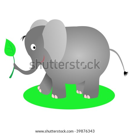 Elephant Eat Deer a Cute Elephant Eating a