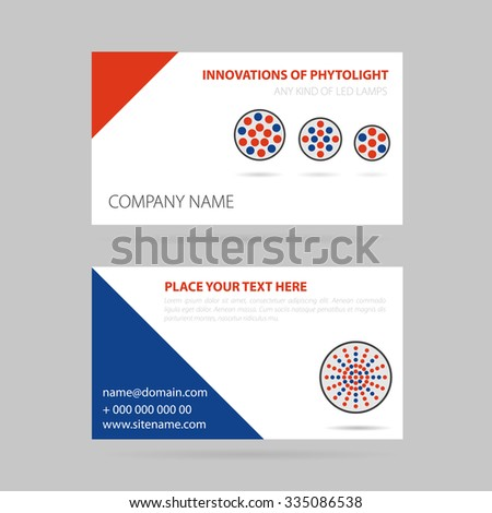 Vector illustration drawing business card four stock vector drawing business card four led lamp for phytolight reheart Image collections
