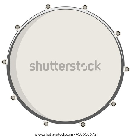 Vector illustration drum top view. Drum, snare icon, symbol or logo - stock vector
