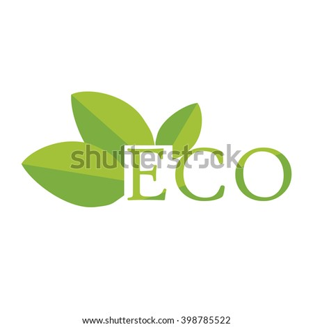 Vector illustration ecology icon. Eco symbols, labels. Eco friendly, natural and organic label. - stock vector