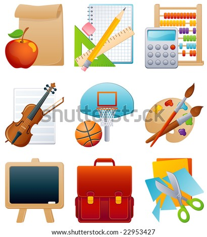 Vector illustration - education icon set - stock vector