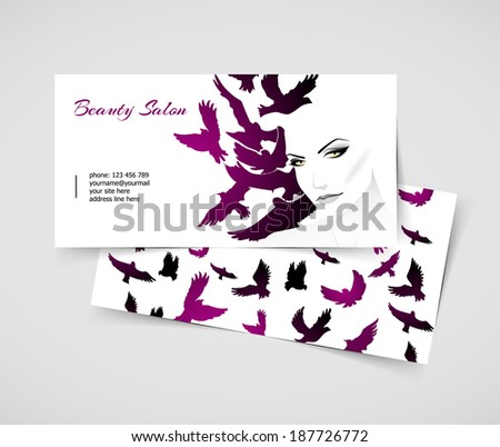 Vector illustration (eps 10) of Cards with woman - stock vector