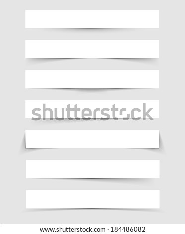 Vector illustration (eps 10) of Shadows set - stock vector