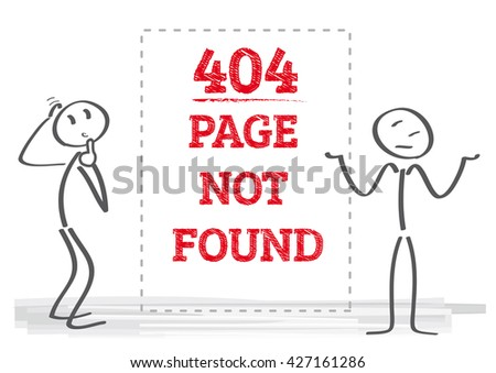 Vector illustration error page not found - stock vector