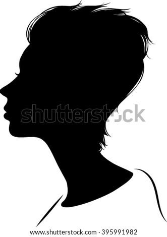Vector Illustration - Female Silhouette - stock vector