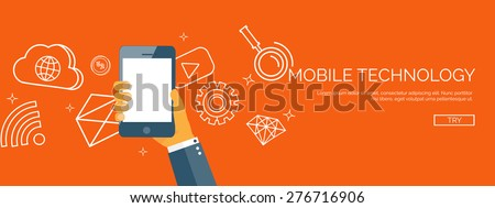Vector illustration. Flat backgrounds set. Data transfer. Cloud computing and mobile technology. Internet and network. - stock vector
