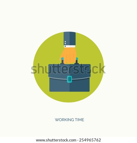 Vector illustration. Flat business background. Management and administrative planning. - stock vector