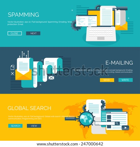 Vector illustration. Flat computing background. Programming and coding. Web development and search. Search engine optimization. Innovation and technologies. Mobile app. - stock vector
