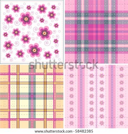 Vector illustration flower background - stock vector