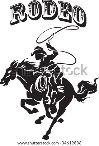 Vector illustration for a cowboy and horse