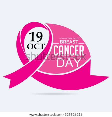 Vector illustration for Breast Cancer Day Background. - stock vector