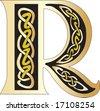 Vector illustration for Celtic letter - stock vector