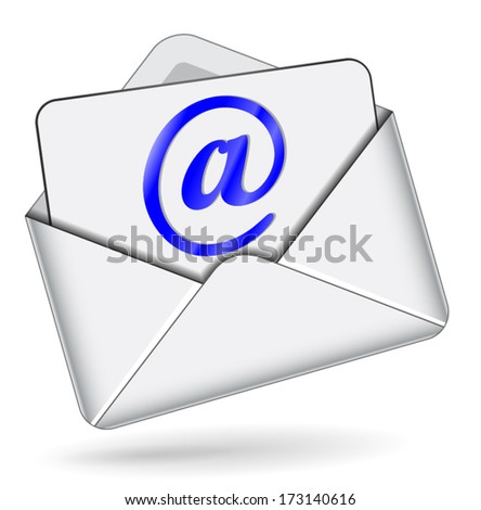 vector illustration for email icon on white background