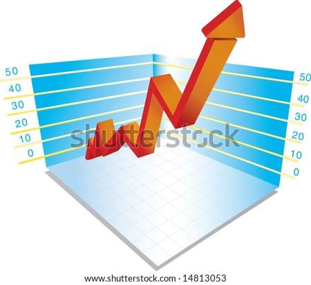 Vector illustration for financial Graph - stock vector