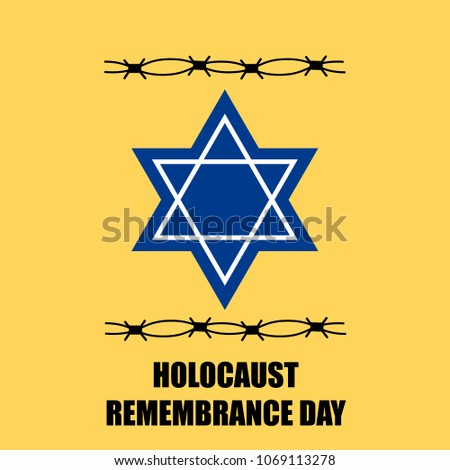 Vector Illustration Holocaust Remembrance Day Symbol Stock Vector