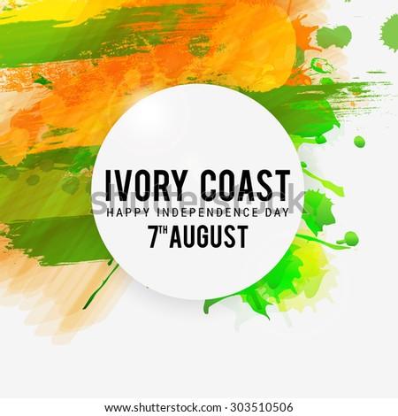 Vector illustration for Ivory Coast Independence Day. - stock vector