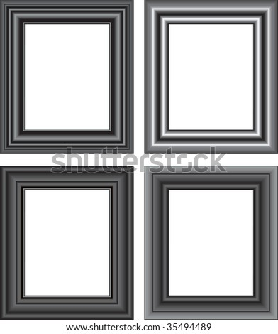 Vector illustration for Photo frame isolated on a white background - stock vector