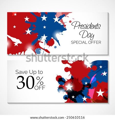 Vector illustration for Presidents Day Header. - stock vector