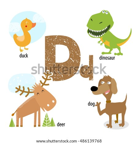 Vector illustration teaching children english alphabet stock vector vector illustration for teaching children the english alphabet with cartoon animals and objects d altavistaventures Images