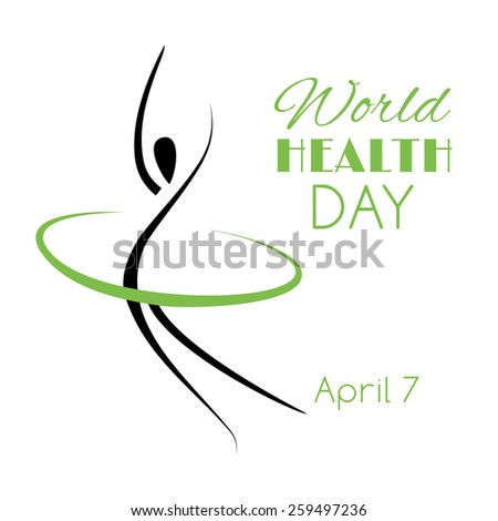 Vector illustration for the World Health Day  - stock vector