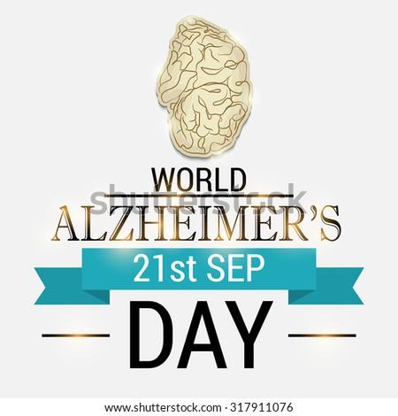 Vector illustration for World Alzheimer's day, September 21. Fight Alzheimer's Disease. - stock vector