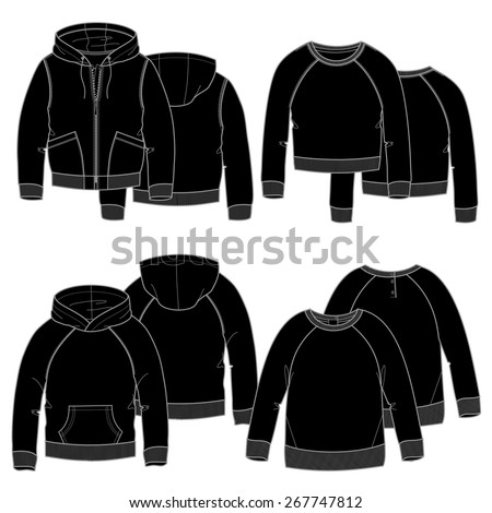 Black Hoodie Template Stock Photos, Royalty-Free Images & Vectors ...