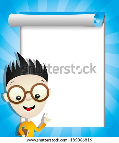 Vector illustration for your text. Boy. - stock vector