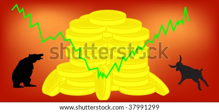 Vector illustration - forex, comodity or stock market - stock vector