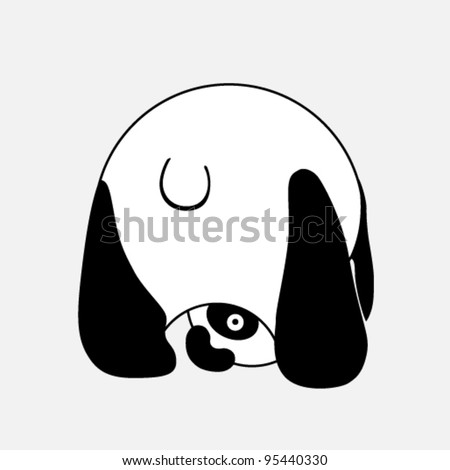 Vector illustration - funny panda - stock vector