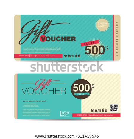 Gift Voucher Template Premium Patterncute Gift Vector – Cute Gift Certificate Template