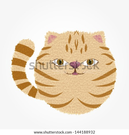 Vector Illustration/Ginger Cat